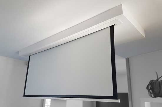 diy a recessed video projection screen. Black Bedroom Furniture Sets. Home Design Ideas