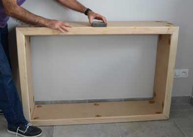 comment fabriquer un meuble console. Black Bedroom Furniture Sets. Home Design Ideas